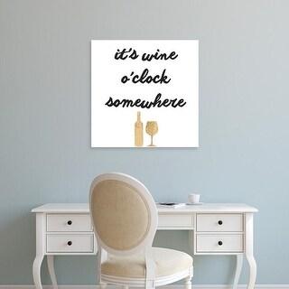 Easy Art Prints Anna Hambly's 'Wine Sentiment V' Premium Canvas Art