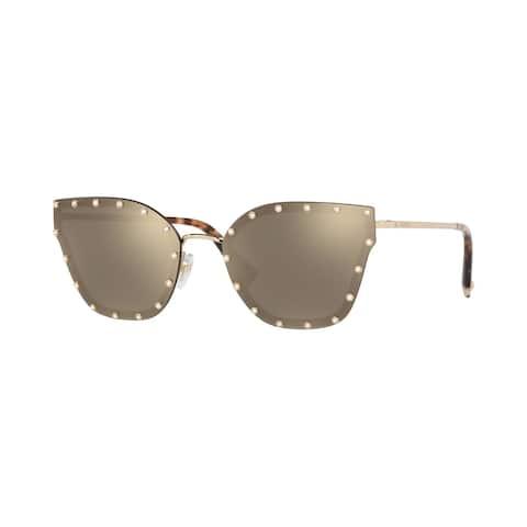 Valentino VA2028 30035A 59 Light Gold Woman Butterfly Sunglasses