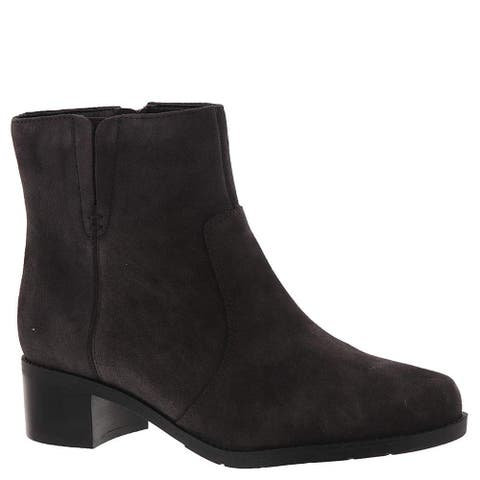 Easy Spirit Womens Novel Suede Closed Toe Ankle Fashion Boots - 7