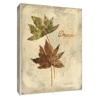 """PTM Images 9-154531  PTM Canvas Collection 10"""" x 8"""" - """"Dream"""" Giclee Leaves Textual Art Print on Canvas"""