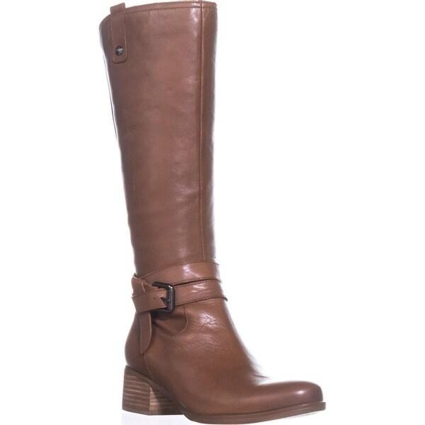 naturalizer Dev Riding Boots, Saddle Tan