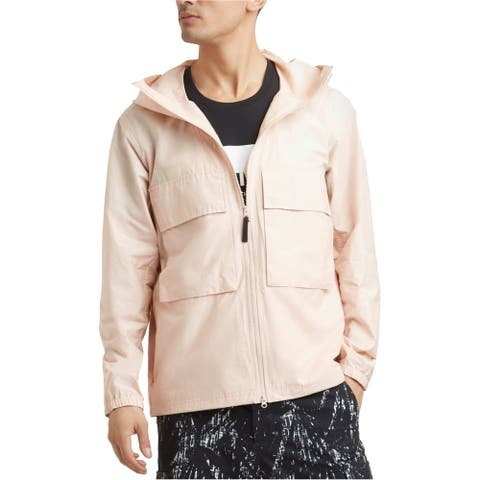 Kenneth Cole Womens Hooded Windbreaker Jacket