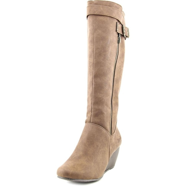 Blowfish Billis Women Round Toe Synthetic Brown Knee High Boot