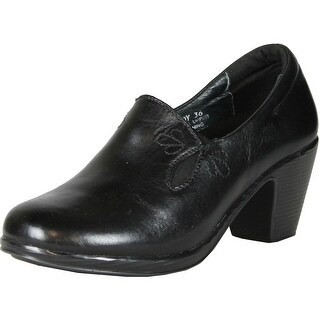 Spring Step Women Lady Clogs-And-Mules-Shoes - Black