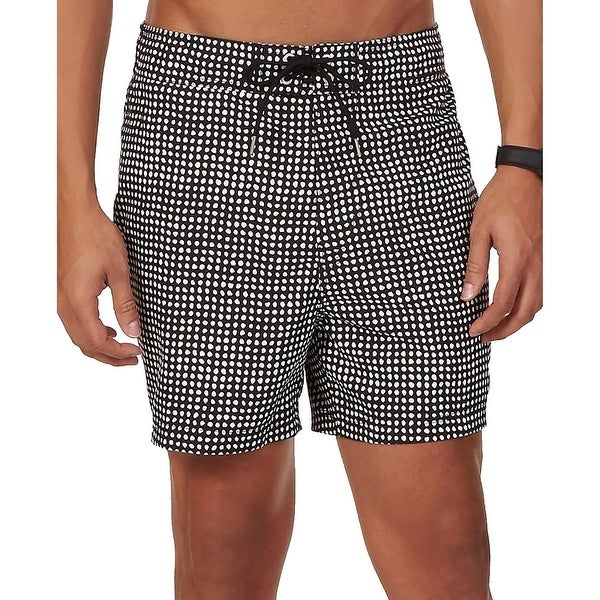 Nautica Mens Dot-Print Quick Dry Swim Trunks