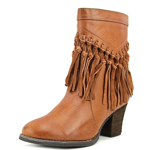 Sbicca Kathrin Women Round Toe Synthetic Tan Boot