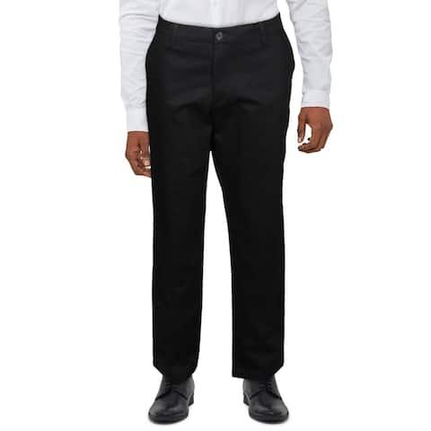 Dockers Mens Dress Pants Comfort Waist Straight Fit - Black