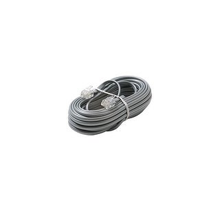 Steren ST-306-007SLM 6C 7' Silver Modular Line Cord