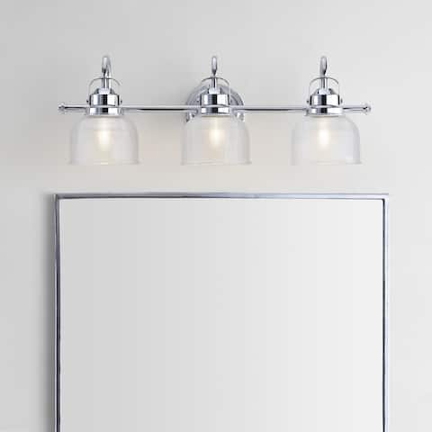 Virginia Metal/Glass LED Vanity Light, Chrome by JONATHAN Y