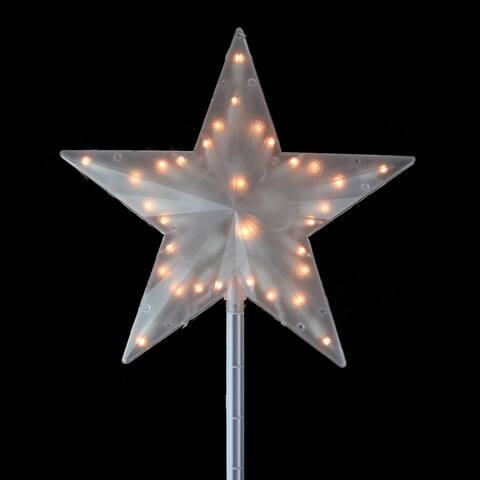 14 Clear Lighted Twinkling Christmas Star Tree Topper