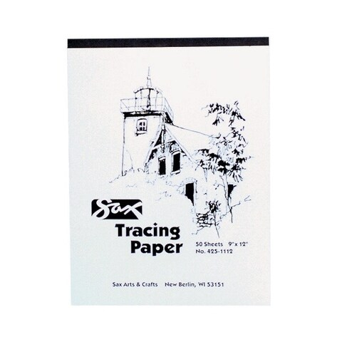 Sax Tracing Paper Pad, 25 lb, 9 x 12 Inches, White, 50 Sheets