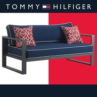 Link to Tommy Hilfiger Monterey Outdoor Sofa, Gray Gunmetal Similar Items in Dining Room & Bar Furniture