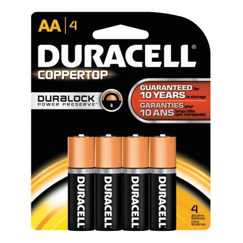 Duracell DMN1500B4Z Coppertop Regular AA Battery (Package of 4) -