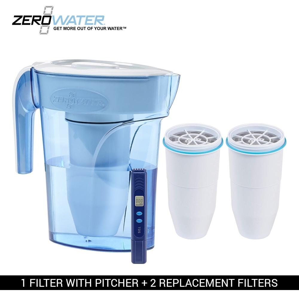 Shop Zero Water Zp006 6 Cup Pitcher Bundle W Built In Tds Meter