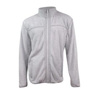 Tommy Hilfiger Men's Zip-Front Fleece Jacket (XL, Grey) - XL