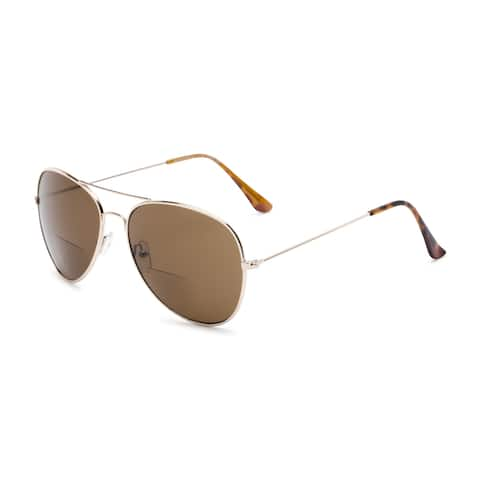 Readers.com The Legacy Bifocal Reading Sunglasses Aviator Reading Glasses