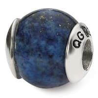 Sterling Silver Reflections Lapis Stone Bead (4mm Diameter Hole)