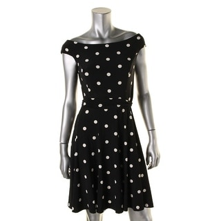Lauren Ralph Lauren Womens Casual Dress Polka Dot Sleeveless