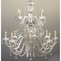 Authentic All Crystal Chandelier Lighting H30 x W28 - Thumbnail 0