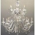 Petite French Swarovski Crystal Trimmed Chandelier Lighting H30 x W28 - Thumbnail 0