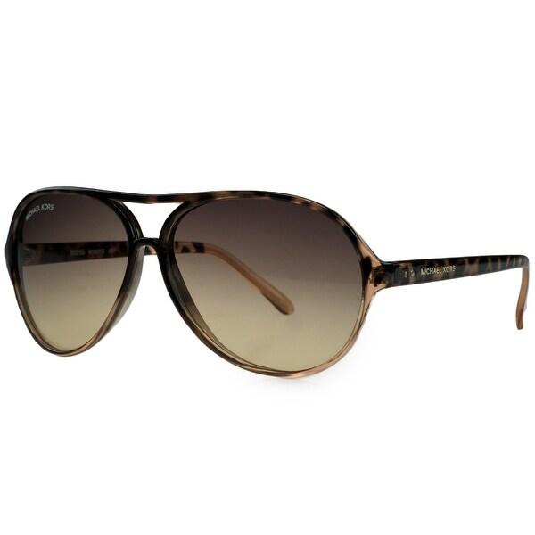 Michael Kors M3631/S 651 Havana Gradient Aviator Sunglasses - 63mm-13mm-140mm