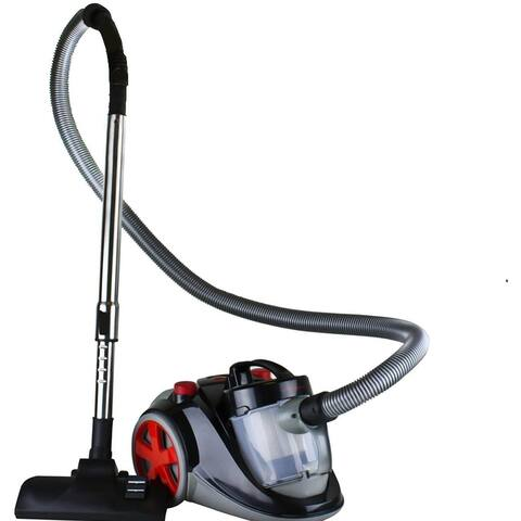 Ovente Electric Canister Vacuum 1.5L Dust Cup, Black ST2000