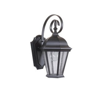 """Craftmade Z2904-11 Chadwick Single Light 14-1/2"""" High Outdoor Wall Sconce with Clear Seeded Glass (2 options available)"""