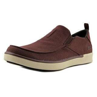 Skechers Boyar - Lented Men  Moc Toe Canvas Burgundy Loafer