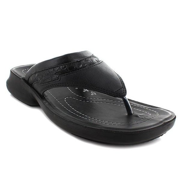 287b1c0d8ccef9 Shop Aerosoft Skipper Men Original Sandals, Black - Size 6 - Free Shipping  On Orders Over $45 - Overstock - 23188028