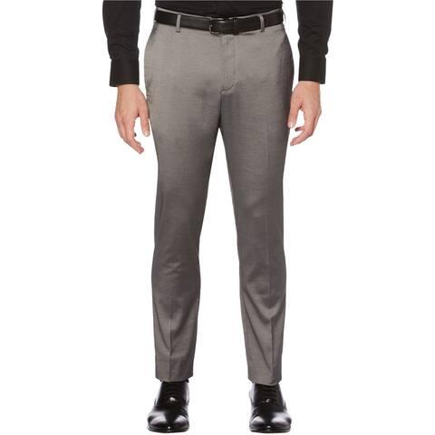 Perry Ellis Mens Iridescent Tech Dress Pants Slacks, Grey, 31W x 30L