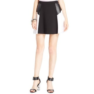 eric + lani Womens Juniors A-Line Skirt Colorblock Mini