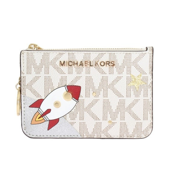 Michael kors White ILLUSTRATIONS Key Ring Pouch Wallet - One size