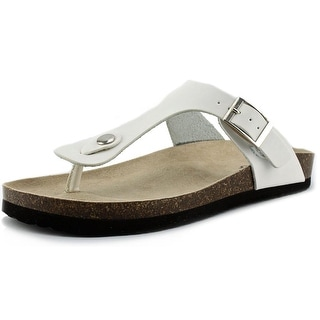 Rialto Carmela Open Toe Synthetic Thong Sandal