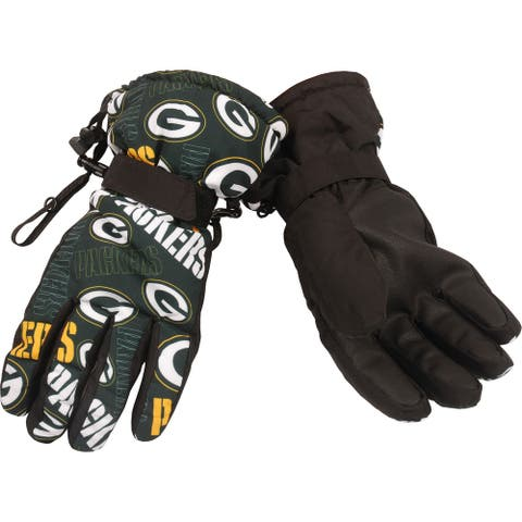Green Bay Packers Repeat Logo Insulated Gloves