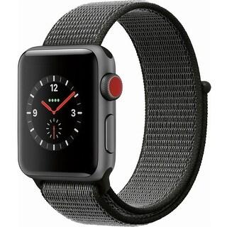 Apple Watch Series 3 Smartwatch (GPS + Cellular) - 38mm Space Gray Aluminum Case w/Dark Olive Sport Loop (Certified Refurbished)