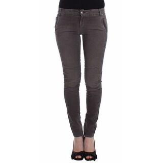 Ermanno Scervino Ermanno Scervino Gray Slim Jeans Denim Pants Skinny Leg Stretch - w26