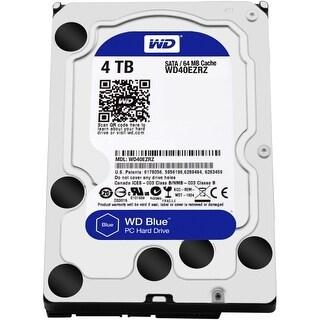WD WD40EZRZ WD Blue 4 TB 3.5-inch SATA 6 Gb/s 5400 RPM PC Hard Drive - SATA - 5400 - 64 MB Buffer - Blue