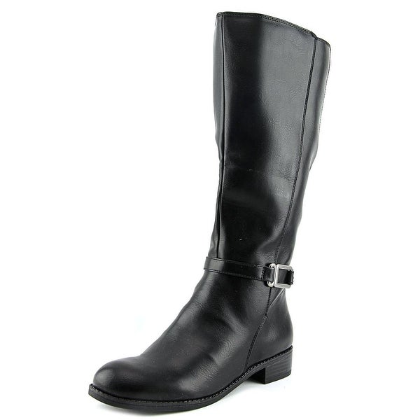 Life Stride Sterling Women Round Toe Synthetic Black Knee High Boot