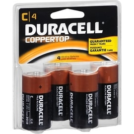 Duracell Coppertop Alkaline Batteries C 4 ea