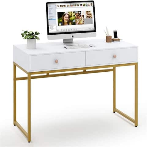 47-inch Computer Desk Writing Desk with 2 Drawers