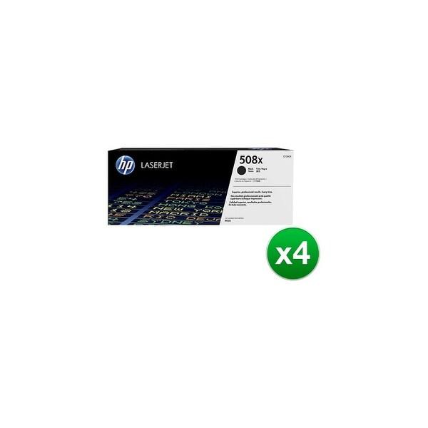 HP 508X High Yield Black Original LaserJet Toner Cartridge (CF360X)(4-Pack)