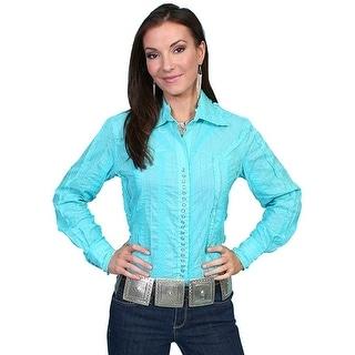 Scully Western Shirt Womens Honey Creek L/S Stripe Snap PSL-012