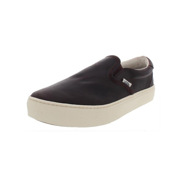 02fe66819c Vans Mens Slip-On Cup CA Casual Shoes Leather Loafer - 9.5 Medium (D
