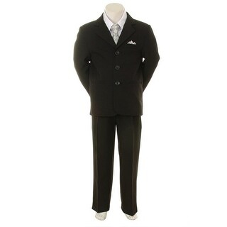 Kids Dream Silver Checkered Vest Formal Special Occasion Boy Suit 6-24M
