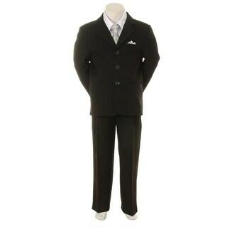 Kids Dream Silver Checkered Vest Necktie Special Occasion Boy Suit 1-4T