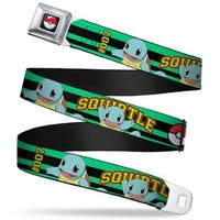 Pok Ball Full Color Black Squirtle #007 Poses Pok Ball Stripe Green Black Seatbelt Belt