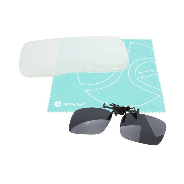 JAVOedge Ultra Thin Hard Slim Clip On Case for Men or Women Eyeglass Sun Clip On and Bonus Mircofiber Cleaning Cloth