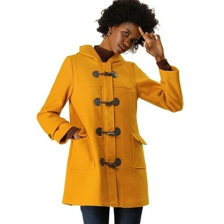 Link to Women' Casual Hoodie Toggle Button Long Relaxed Dual Pocket Basic Coat Similar Items in Women's Outerwear
