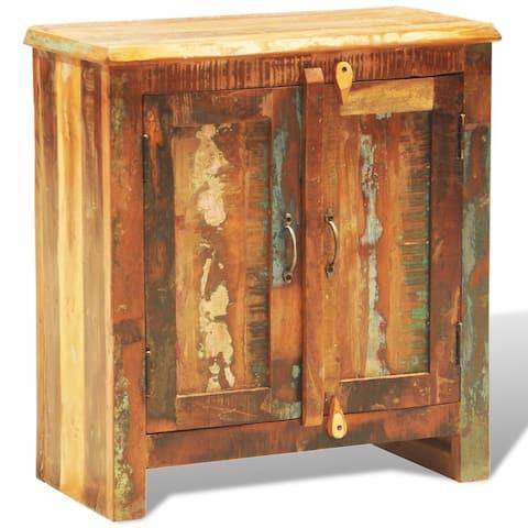 "vidaXL Reclaimed Cabinet Solid Wood with 2 Doors Vintage - 25.6""x11.8""x27.6"""