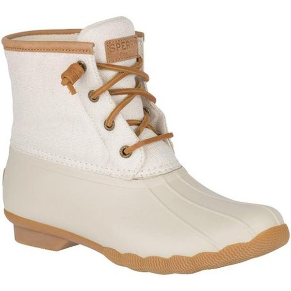 8119cb29141 Shop Sperry Top-Sider Women's Saltwater Duck Boot Ivory Textile ...